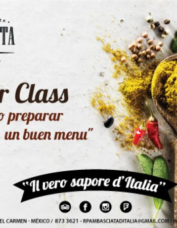 "Chef MasterClass ""How to create a great menu"""