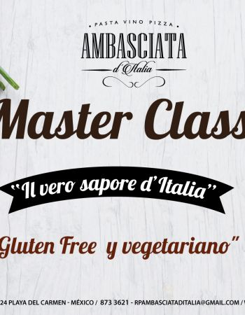 "19/04 New MasterClass: ""Vegan and Gluten Free dishes"""
